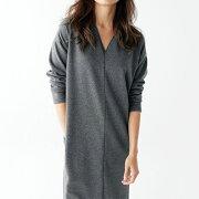 ワンピース レディース シャギー ネックコクーンワンピ リュリュ ファッション アウトレット