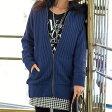 リブ編&フェイクファー使いでカジュアルなのに上質感もキープ裏ボア使いリブ編ニットブルゾン ryuryu/リュリュ らなん 30代 ファッション レディース