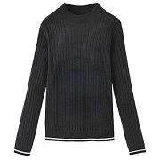 セーター フィット カシミヤタッチ リブニット ベーシック アクセント ワイドリブニット リュリュ ファッション レディース