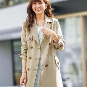 シンプル デザイン ベーシック トレンチコート テックス リュリュ ファッション レディース スプリングコート