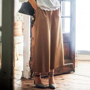 レディース トレンド スタイル ウエスト ラインウエストゴムワイドパンツ リュリュ ファッション