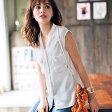 シャツ レディース 夏 LL 3Lサイズジョーゼット素材ノースリスキッパーシャツ(LL〜3L) ryuryu リュリュ 30代 ファッション レディース