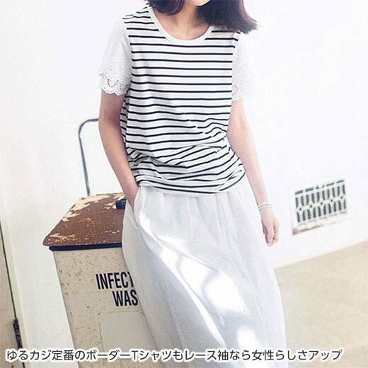 Tシャツレディース夏LL3LサイズスカラップレースTシャツ(LL~3L)ryuryu