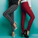 フルレングス S M L美ラインウエストゴムレギンス風パンツ(S?L) ryuryu リュリュ 30代 ファッション レディース バニ BANI 白 ホワイト