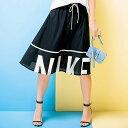 スカート ひざ丈 ホワイト S M L(NIKE)メッシュスカート ryuryu リュリュ ラナン Ranan 夏 30代 40代 ファッション スカート ひざ丈 ブラック レディース