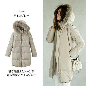 ダウンコートMLLLリアルファー付ダウンコート(M〜LL)ryuryu/リュリュラナンRanan30代40代ファッション