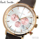 ポールスミス 腕時計 時計 PAUL SMITH TRACKPS0070011 シルバー ピンクゴールド ブラウンレザー 42mm