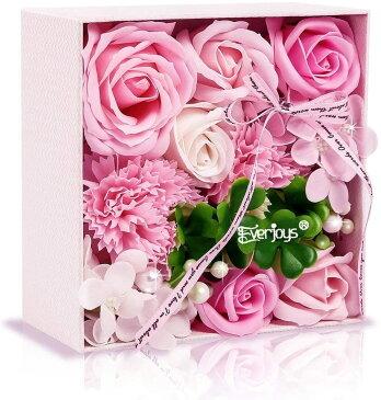 ソープフラワー 方形ギフトボックス 母の日 誕生日 記念日 先生の日 バレンタインデー 昇進 転居など