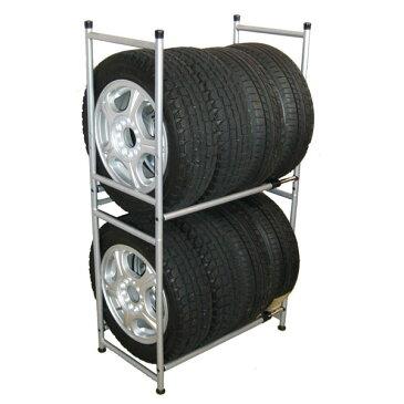 12インチから17インチまで収納可能、冬タイヤ等の保管に最適組立式タイヤラック タイヤ収納ラック2 KY-315
