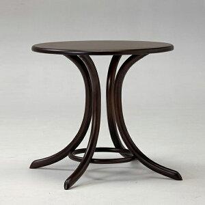 TON(チェコ製)/ベントウッドラウンドカフェテーブル8047ダークブラウン