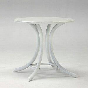 TON(チェコ製)/ベントウッドラウンドカフェテーブル8047アンティークホワイト