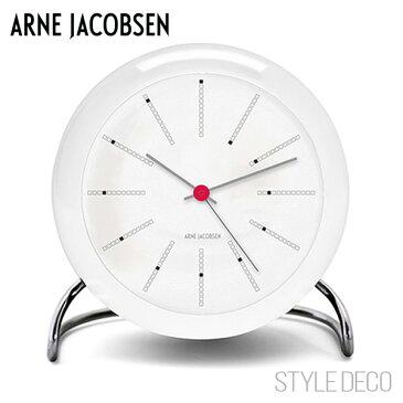 【送料無料】ARNE JACOBSEN / アルネ・ヤコブセンBANKERS テーブルクロック(ホワイト)