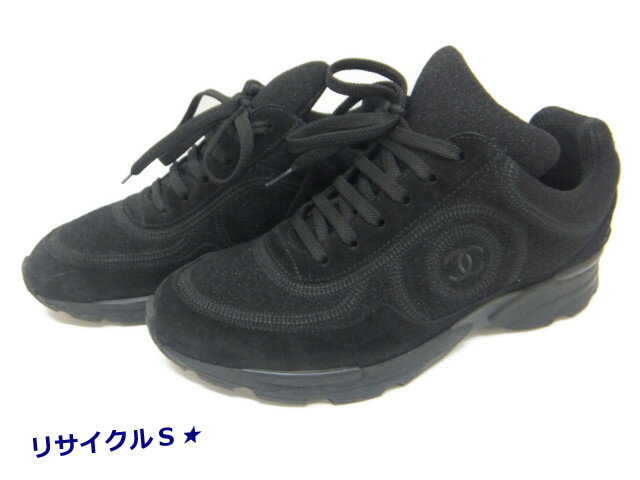 CHANEL sneakers womens 37 24cm G30358 CHANEL