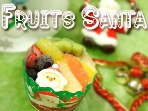 フルーツサンタかわいらしいクリスマス用ミニアイスケーキです☆12月1日以降のお届けのみとなります。
