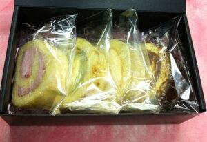 あれもこれも食べたい人に★スポンジは米粉使用でふわふわしっとり♪≪ロールケーキ4種類セット≫