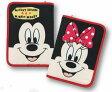 【送料無料!! クロネコDM便限定】クーザ 母子手帳ケースミッキーマウス&ミニーマウス(フェイス)片面ジャバラタイプ マルチケースDKJB-2501ディズニー