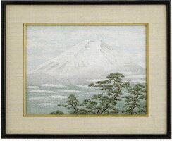 東京文化刺繍キットNo165銀雲白富士(3号)