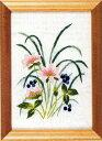 フランス刺繍キット No64ゆきわりそうと竜のひげ(15cm×11cm)
