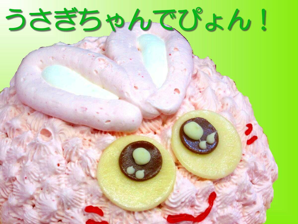 【子供キッズが喜ぶ誕生日ケーキバースデーケーキならこれ!】うさぎちゃんキャラクターで思い出の記念日 直径18cm