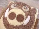 【誕生日ケーキバースデーケーキならこれ!】ベルギーチョコ入り生クリームの「 いのしし君 」キャラクターで思い出の記念日に