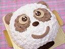 【誕生日ケーキバースデーケーキならこれ!】5号サイズ パンダちゃんキャラクター直径15cm4?6名用