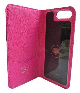 新品 ルイヴィトン iphone8+・フォリオ(7+にも対応) モノグラム×ピンク 二つ折り 携帯ケース アクセサリー モバイル M63401 LOUISVUITTON ビトン スマホ ケース 新品・LV箱でのラッピング