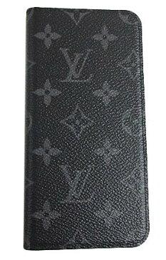 ≪新品≫ 箱のラッピング ルイヴィトン iphone8+・フォリオ(7+にも対応) モノグラム・エクリプス 二つ折り 携帯ケース アクセサリー スマホ モバイル M62641