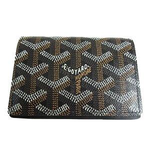 Nouveau véritable GOYARD Goyal Card / Business Card Case Marselve Black Black Box / Ribbon Wrapping