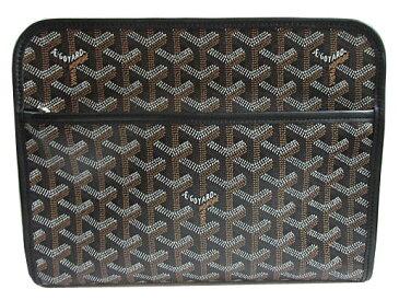 ≪新品≫ 正規品 新品 GOYARD ゴヤール クラッチ セカンドバッグ ジュバンス 黒×黒 紙袋・リボンのラッピング