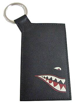 ≪送料無料≫ エルメス パスケース キーリング付 シャーク ブラック×シルバー金具 ヴォースイフト HERMES メンズ Shark 限定 定期入れ