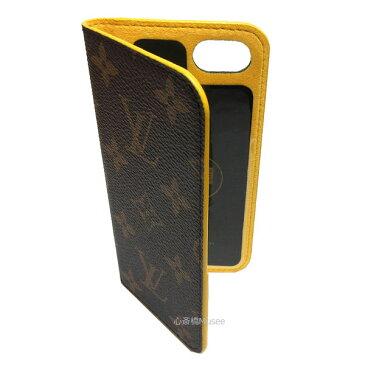 ≪新品≫ルイヴィトン iphone8・フォリオ(7にも対応) モノグラム×ジョーヌ 黄色 イエロー 二つ折り スマホ 携帯ケース アクセサリー モバイル M61908 LOUISVUITTON ビトン 箱 リボン ラッピング 廃盤カラー