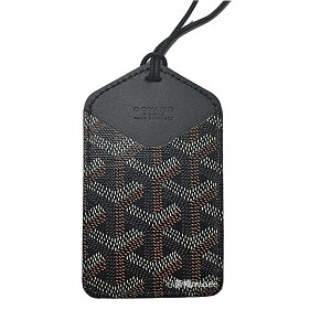 New>> Goyal Card case with string Wrinkle CHOISEU Pass case Black Black Box/ribbon wrapping