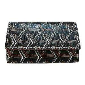 New Genuine GOYARD Box Wrapping Goyal Key Case Black x Natural Box/Ribbon Wrapping