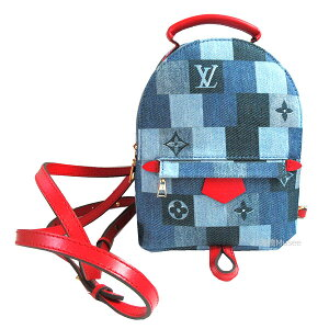 New Louis Vuitton 2020 Spring Summer Collection Limited Monogram Denim Patchwork Palm Springs Backpack MINI M45043 Mini Handbag Strap Ribbon Shopper Wrapping LOUISVUITTON