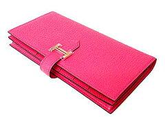 [送料無料]現金特価! 新品 箱・リボンのラッピング エルメス ベアン スフレ 2010年新色 ピンク ...