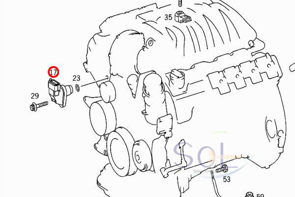 277763 Thicker Oil M104 in addition Mercedes Benz Parts Diagrams also 5 4 Triton Serpentine Belt Diagram Wiring Diagrams besides 0041536928a 01 in addition 434132 W210 Parking Brake Pedal Spring. on 97 mercedes e320