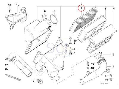 【楽天市場】BMW E83 X3 Z3 E85 Z4 エアクリーナーフィルター 2.0 2.2i 2.5i 2.8