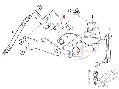 【楽天市場】BMW E46 E60 E61 ヘッドライト光軸調整センサー ハイスタンドセンサー 318i 320i