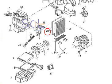 VW ポロ (9N_ 6R_ 5Z1 5Z3) エアコンフィルター 6Q0820367B 6Q0820367 6Q0819647