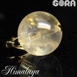 チャーム 金運祈願 AAAAAゴールデンヒマラヤ水晶(ヒマラヤ金水晶)ガネーシュヒマール産 12mm パワーストーン 天然石