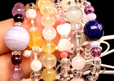 Megahit ★ natural loadage in koku coin string of beads bracelet power - strike - ンパワーストーンパワ - strike - ンパワ - strike - ン including power stone breath bracelet crystal rhodochrosite available