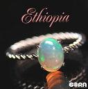 幻想的な輝き SSAエチオピアンオパール オーバル リング 指輪 パワー...