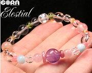 SORA10周年スペシャルアイテム★エナジークリーニングブレス★AAAAエレスチャルAAAピンクトルマリンAAAAAラリマーAAAAAインカローズAAAAサンストーンAAAAモルガナイトAAAAAタイチンルチルAAAAAペリドットブレスレットパワーストーン天然石