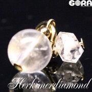 チャーム開運祈願★AAAAニューヨーク産ハーキマーダイヤモンド(ラウンド&ポイント)パワーストーン天然石水晶※ダイヤモンドではありません。◆
