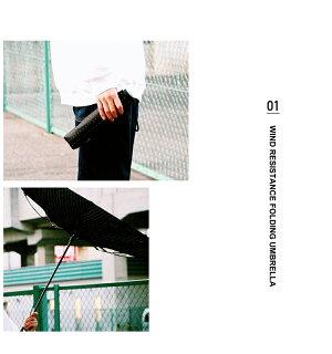 折りたたみ傘耐風骨耐風メンズ傘長傘日傘晴雨兼用w.p.c男性用傘紳士傘ボーダー遮光uvカットデザインギフトおしゃれプレゼント雨傘65cm公式ワールドパーティーファッションw.p.cユニセックス男女兼用ジャンプ傘