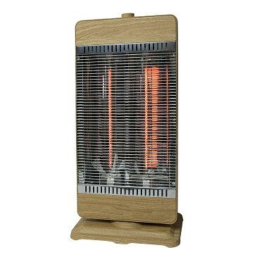 《熱効率の高いカーボンヒーター使用》TEKNOS カーホンヒーターCHM-4220 900W 450W管×2灯 木目 ヘーシュ
