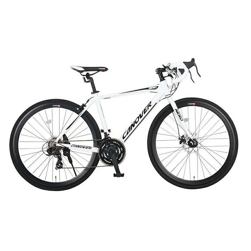 《砂利道もガンガン走れるグラベルロードバイク》CANOVER 700x28C 21段変速ロードバイクCAR-014-DC NEROフレームサイズ 470mm(33737)ホワイト