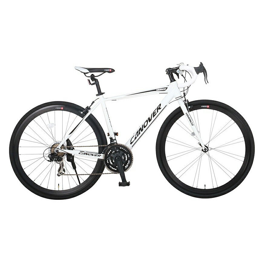 《エアロチューブ採用ミドルクラスロードバイク》CANOVER 700x28C 21段変速ロードバイクCAR-015-CC UARNOSフレームサイズ 470mm(33991)ホワイト