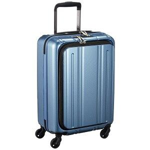 《50mmの大型グリスパックキャスターを採用》EVERWIN 機内持込可スーツケースEVERWIN Front Open 30L(EW31240)ブルーカーボン