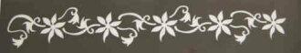 Stencil [No. 1] flower [body paint] for Diamod Tattoo